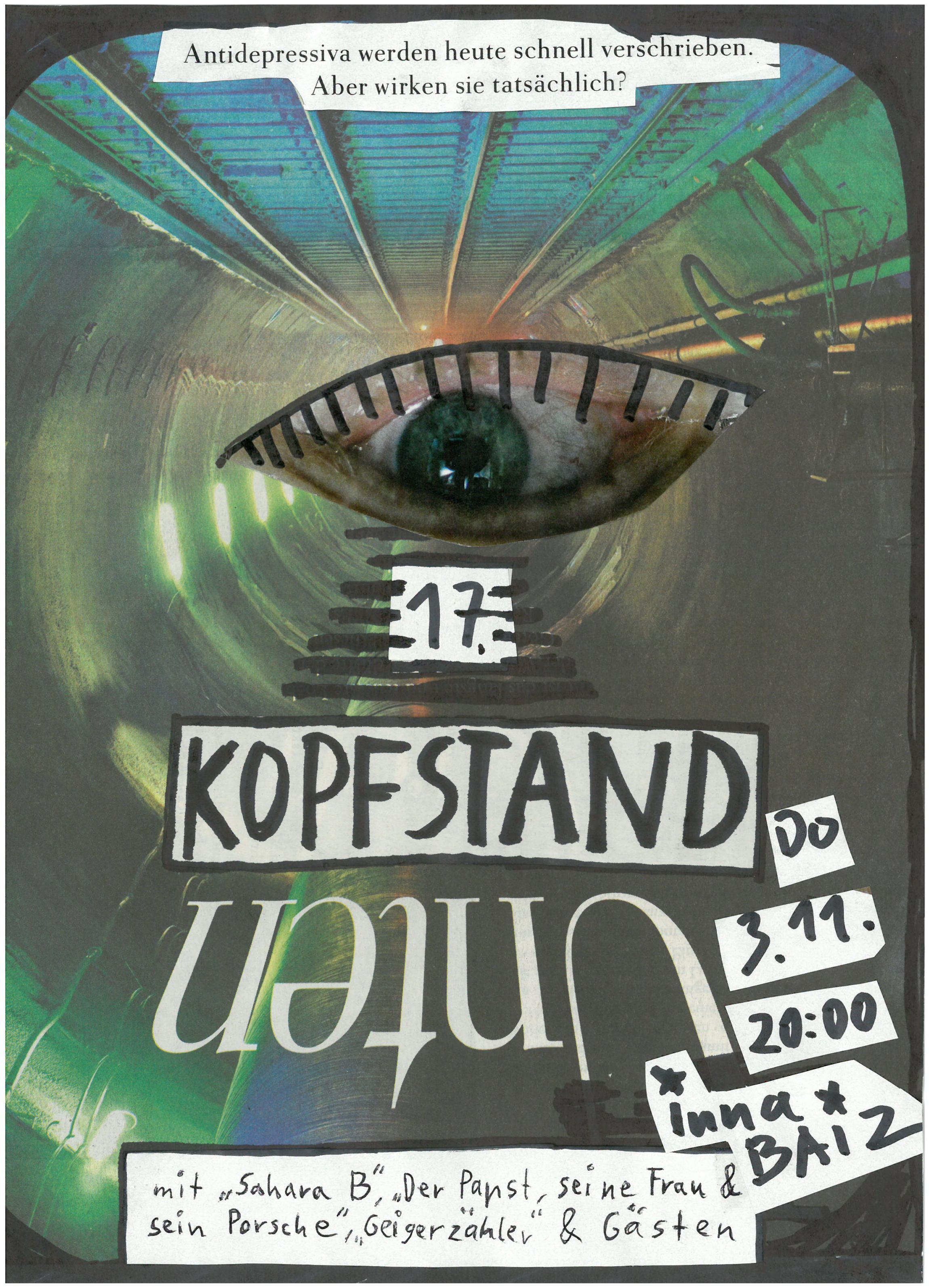 Kopfstand am 3. November 20:00 in der Baiz